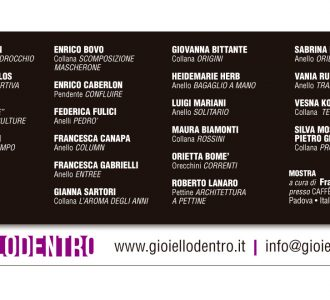 Exposición Caffè Pedrocchi 2011 - Padova (Italia) - Giovanna Bittante Design
