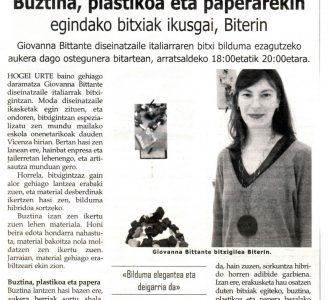 Exposición personal BITERI 2012 Hernani (Gipuzkoa) - Giovanna Bittante Design