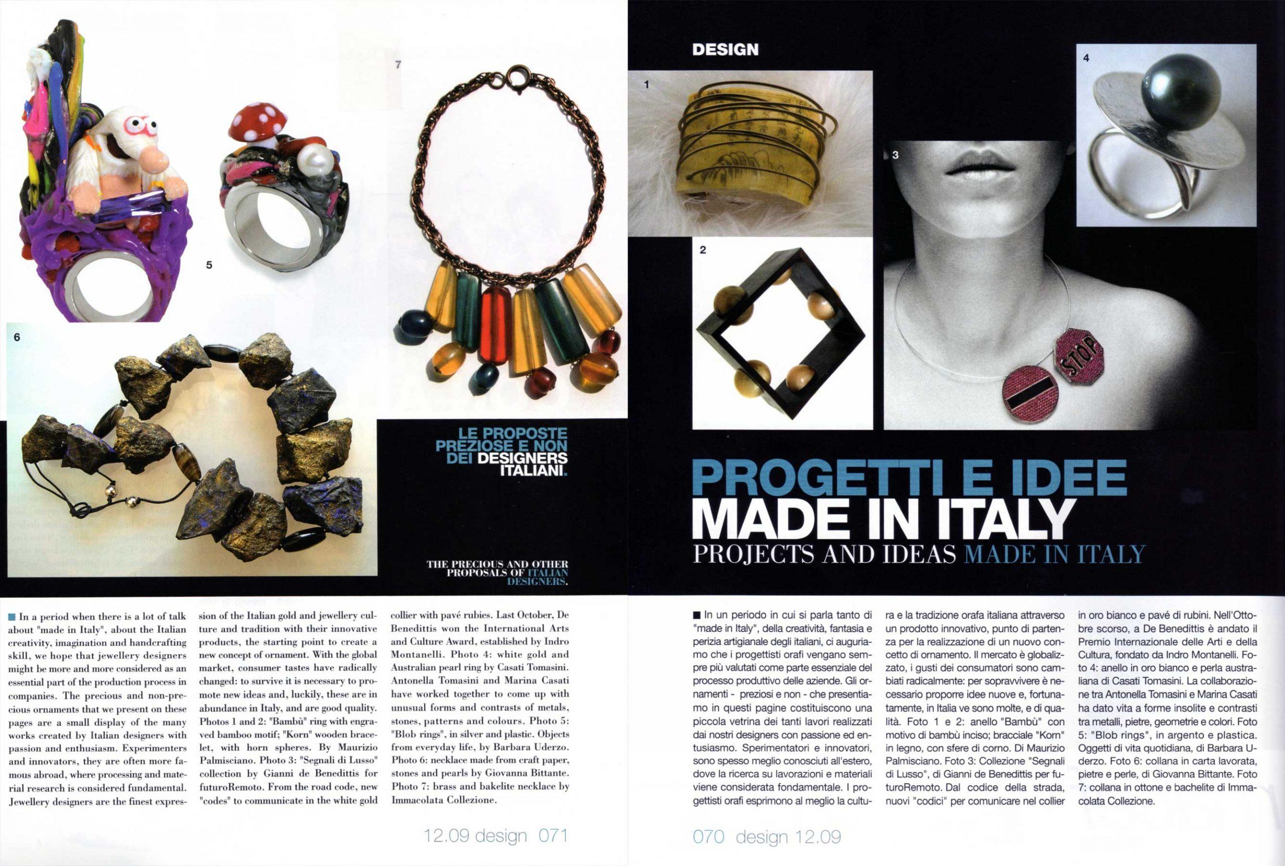 L'orafo Italiano - 2009 - Giovanna Bittante Design