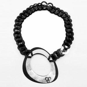 Collar Acqua en acetato y plata - Colección Intrecci - Giovanna Bittante Design