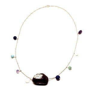 Collar Arcobaleno en papel y piedras naturales - Colección Don't Wash - Giovanna Bittante Design