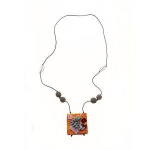 Collana Cuéntame un Cuento in carta, argento e pietre semipreziose - Collezione Don't Wash - Giovanna Bittante Design
