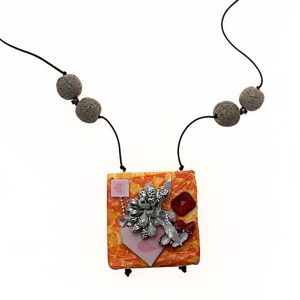 Collar Cuéntame un Cuento en papel, plata y piedras semipreciosas - Colección Don't Wash - Giovanna Bittante Design