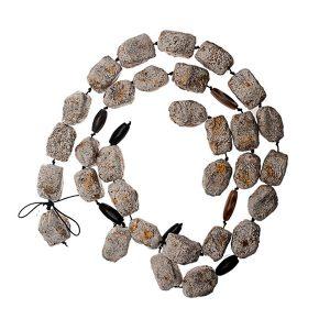 Collar Frammenti dallo Spazio en papel, plata y piedras semipreciosas - Colección Don't Wash - Giovanna Bittante Design