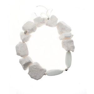 Collar Ghiaccio Caldo en papel, plata y piedras semipreciosas - Colección Don't Wash - Giovanna Bittante Design