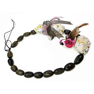 Collar Giardino Zen en papel, plata y piedras semipreciosas - Colección Don't Wash - Giovanna Bittante Design
