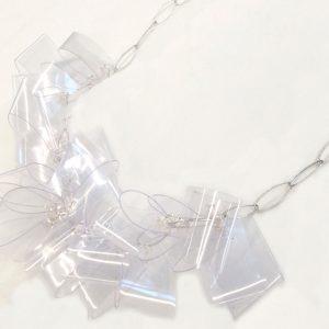 Collar Multitrasparente en acetato y plata - Colección Intrecci - Giovanna Bittante Design
