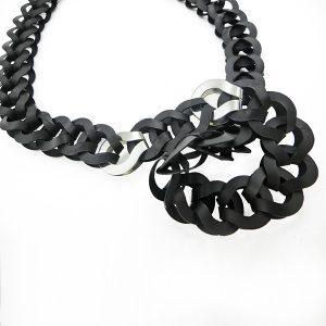 Collar Otto en acetato y plata - Colección Intrecci - Giovanna Bittante Design