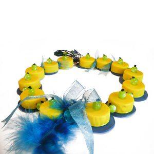 Collar PET con pluma - Colección Plasti&Co - Giovanna Bittante Design