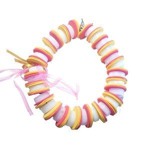 Collar PET tapones blancos - Colección Plasti&Co - Giovanna Bittante Design