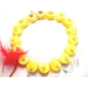 Collar PET tapones amarillos - Colección Plasti&Co - Giovanna Bittante Design