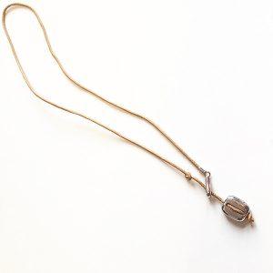 Collar Rugiada en plata y cuero - Colección Giovesol hombre y mujer - Giovanna Bittante Design