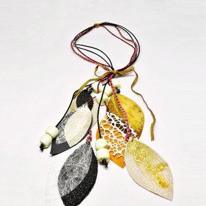 Collana Volo Leggiadro in stoffa, sostenibile 100% - Collezione Ali di Fata - Giovanna Bittante Design