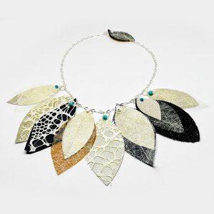 Collar Volo d'Autunno en tela, sostenible 100% - Colección Ali di Fata - Giovanna Bittante Design