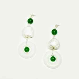 Pendientes Lago en cristal fotoluminiscente y papel - Colección Luce - Don't Wash - Giovanna Bittante Design