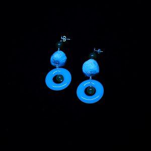 Orecchini Lago in vetro fotoluminescente e carta - Collezione Luce - Don't Wash - Giovanna Bittante Design