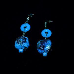 Orecchini Stella in vetro fotoluminescente e carta - Collezione Luce - Don't Wash - Giovanna Bittante Design